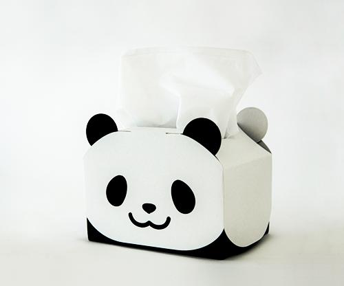 うちの子パンダのティッシュケース